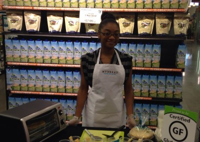 Gluten Free demos for MYBREAD in Whole Foods